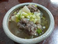 蘿蔔梅花肉丸湯