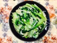 炒青江菜佐金針菇