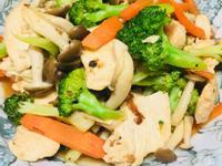 低卡多纖~椰花菇菇炒雞胸肉