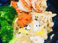 天使紅蝦菇菇豆腐丼飯~之偽蝦卵