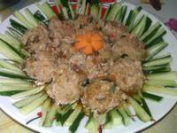 自製醬瓜蒸肉丸