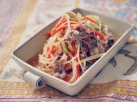 柚梅醬溫拌牛肉鮮蔬,清鮮淡雅