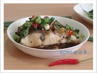 簡易電鍋料理〜清蒸豆鼓魚