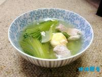 芥菜咸蛋肉片湯
