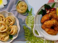 【水波爐料理】鮮肉玫瑰蒸餃&孜然炸雞翅