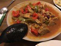 捷克馬鈴薯餅佐燉蔬菜豬肉