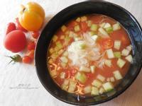 番茄冷湯麵線