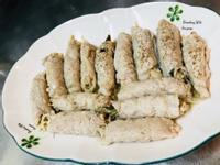 多汁金針菇剝皮辣椒豬肉卷