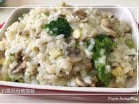 白醬鮮蔬菇菇雞燉飯