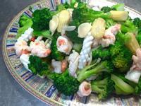 青花耶菜炒海鮮