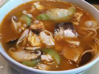茄汁鯖魚絲瓜麵