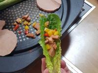 素火腿生菜卷
