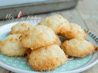 【三種材料】椰絲蛋白餅