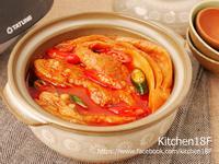 韓式泡菜燉肋排_零廚藝 電子鍋料理