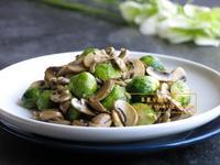 [蘑菇抱子甘藍]簡易家常菜