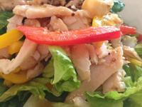 燻雞生菜沙拉佐和風柚子醬
