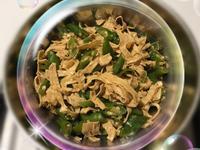小青椒炒腐竹