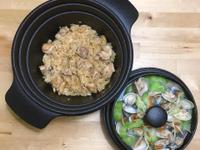 麻油雞飯+絲瓜蛤蜊