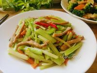 肉絲炒芹菜