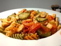 蒜香番茄蘑菇雞肉義大利麵