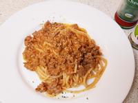 牛絞肉紅醬義大利麵