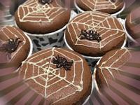 萬聖節 🎃 黑蜘蛛牛奶巧克力 杯子蛋糕