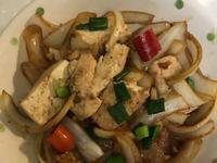 炒洋蔥煎豆腐