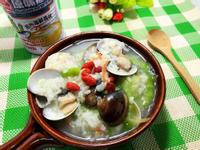 蛤蠣絲瓜粥