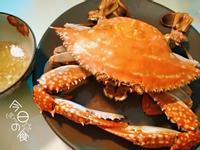 電鍋蒸螃蟹+蟹醋(簡單沾醬蟹蝦都好吃)