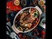 感恩節·聖誕節餐桌➰蜂蜜檸檬百里香烤雞