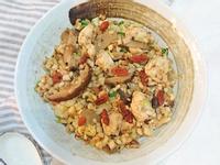 麻油香菇雞炊飯(電鍋快速簡單)