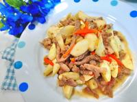 蒜香肉絲茭白筍
