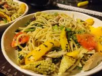 蔬食清炒義大利麵