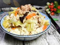 高麗菜香菇菜脯炊飯