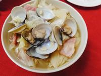 培根高麗菜蛤蠣蒸