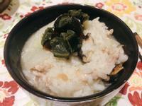 白菜肉末鹹粥