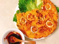 海鮮煎餅 (添加韓式泡菜版本)