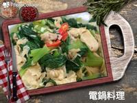青江菜炒豆皮