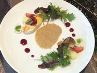 炙燒鯖魚.鮮蝦佐胡麻沙拉