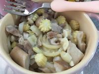親子共食~寶寶蒜炒鮮菇義大利麵