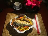 心花怒放(烤鯖魚配彩虹蔬果)