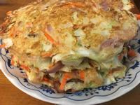 蔬菜鮪魚香腸大阪燒