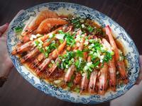 芙蓉豆腐蒸蝦
