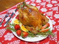迷迭香蒜味烤雞。聖誕節烤雞、聖誕大餐~