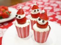 超萌~聖誕雪人造型。巧克力杯子蛋糕
