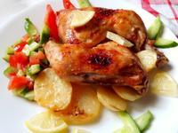 檸檬大蒜烤雞-中東家常菜