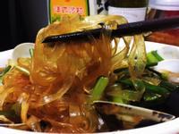 蛤蜊韭菜花炒冬粉