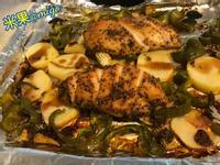 羅勒雞胸肉烤蔬菜