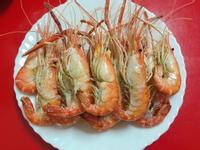 簡單料理~塩烤泰國蝦