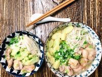 蔥雞湯烏龍麵